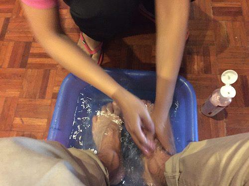 バンコクのおすすめフットマッサージMr.feet(ミスターフィート)足湯