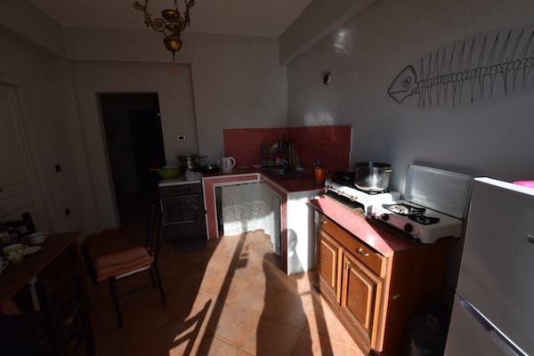 ベニホステルのキッチン
