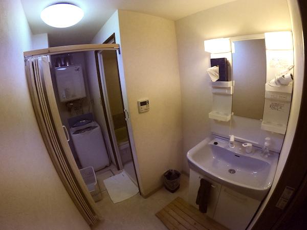 スローハウス京都の洗面台・脱衣場