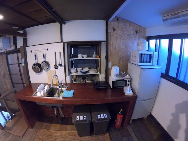 スローハウス京都のキッチン