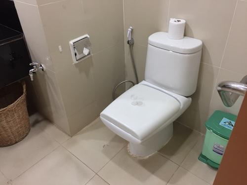 ロイヤルアンコール国際病院の病室のトイレ
