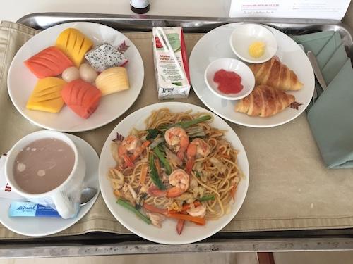 ロイヤルアンコール国際病院の朝食