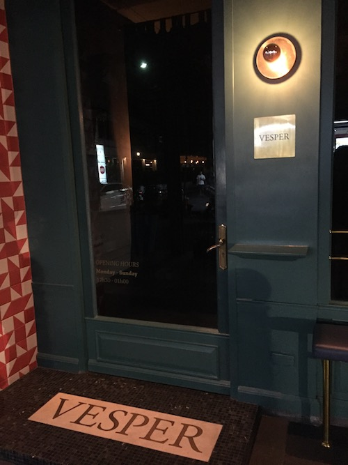Vesper Cocktail Barの入り口