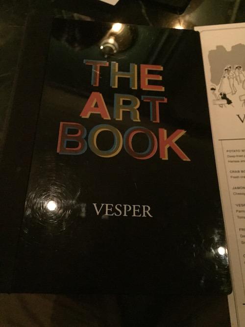 Vesper Cocktail Barのメニュー
