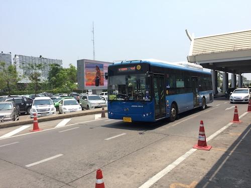 青いエアポートバス
