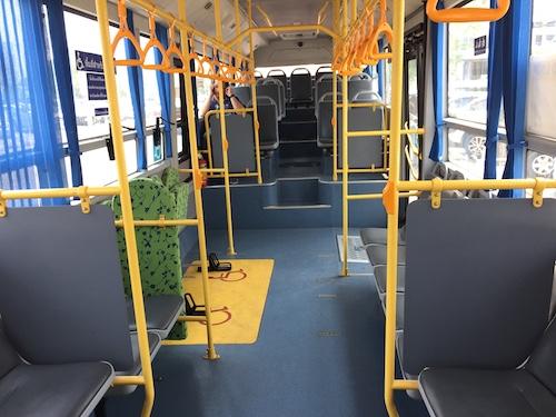 エアポートバスの車内
