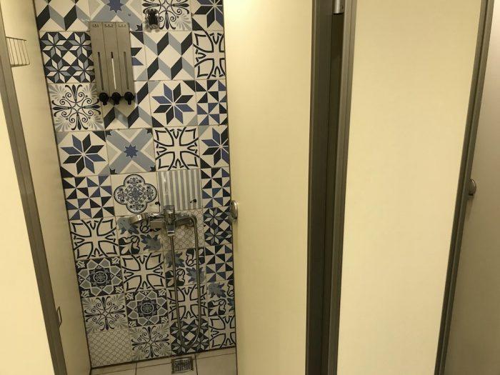 エンジェルスホステル台北西門のシャワー