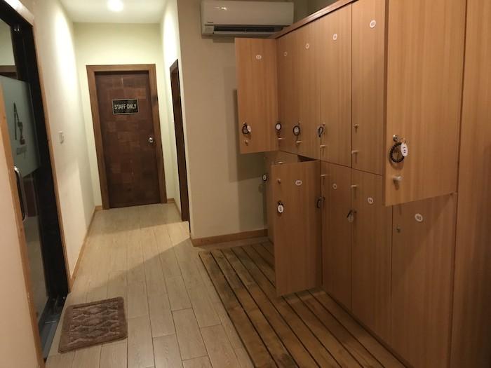 東屋ホテルの露天風呂の脱衣場