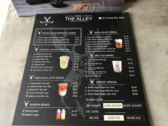 THE ALLEYのメニュー