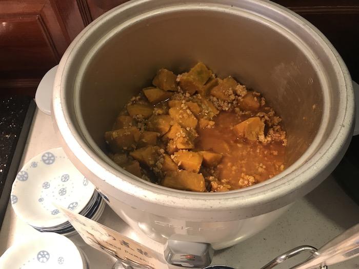 東屋ホテルの朝食 かぼちゃの煮付け