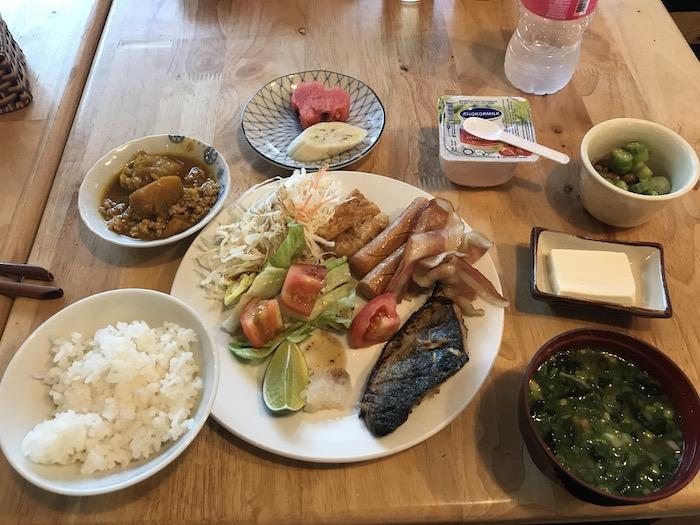東屋の朝食ビュッフェ