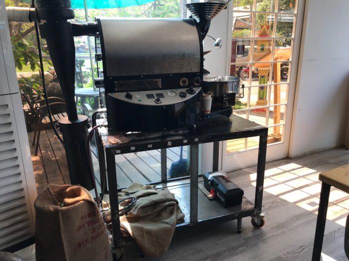 The Coffeeholicの焙煎機