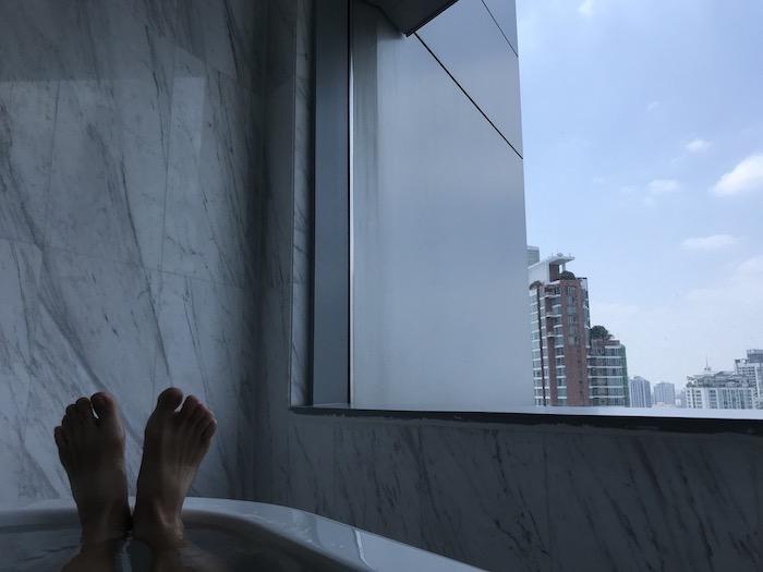 バンコク マリオットホテル スクンビットのバスタブ
