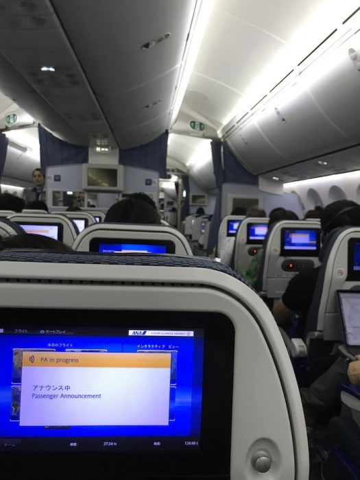 ANA 787-8(788)の機内