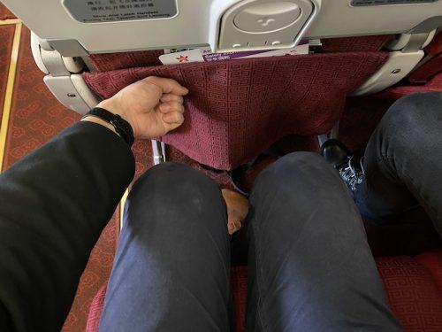 香港航空搭乗記座席のピッチ