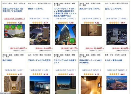 楽天トラベルから「もっとTokyo|東京都民割」ホテル
