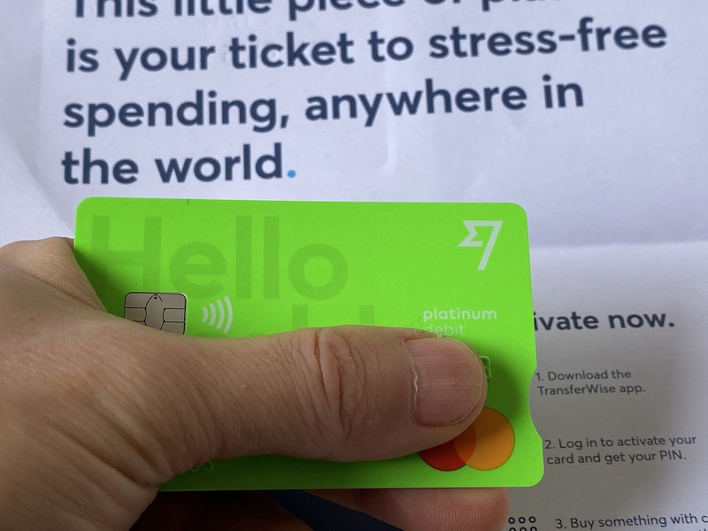 TransferWiseのデビットカード