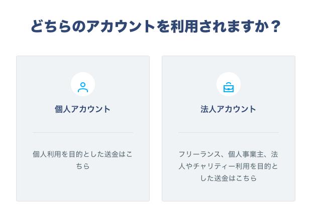 transferwiseアカウント作成